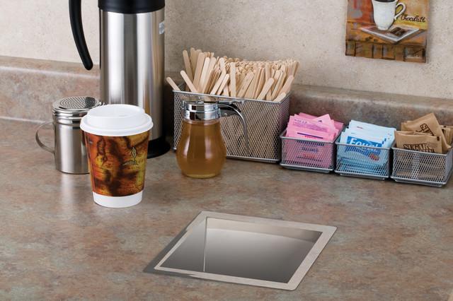 Steel Trash Grommet - TM1/SQ - Contemporary - Kitchen Countertops ...