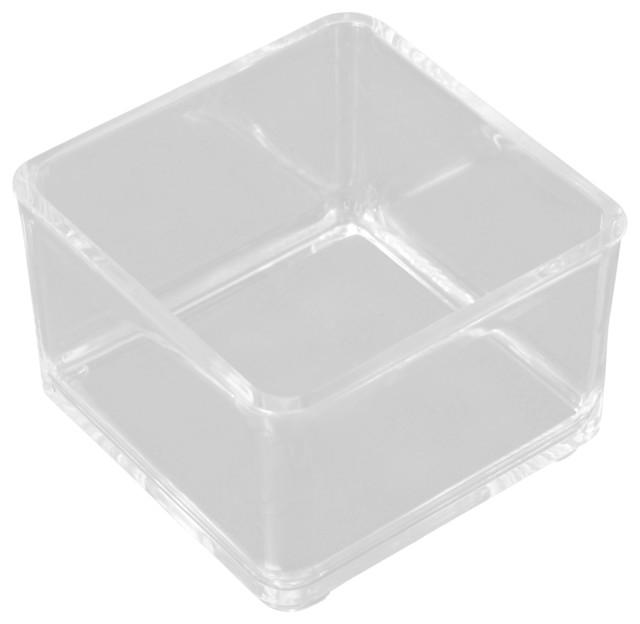 Acrylic Stackable Organizer 3 Set Of 4 Modern