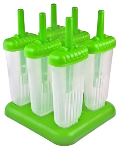 Tovolo Green Groovy Ice Pop Molds contemporary-popsicle-molds