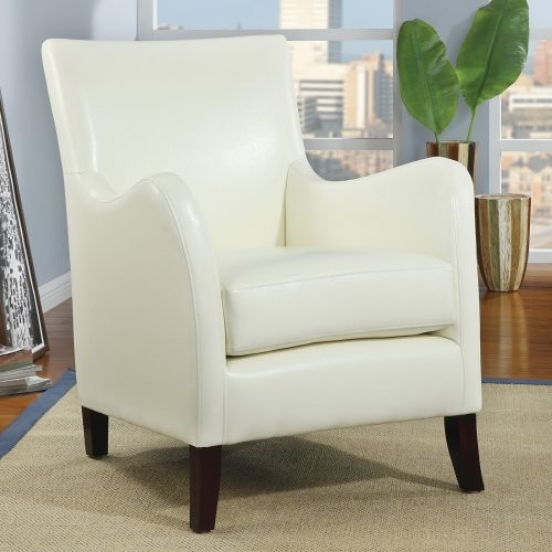 Aella Ivory Leather Accent Chair contemporary-living-room-chairs
