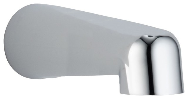 Non-Diverter Tub Spout in Chrome contemporary-bathroom-faucets