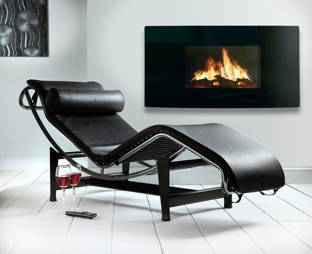 Celsi Curved LCD Electric Fire contemporary-fireplaces