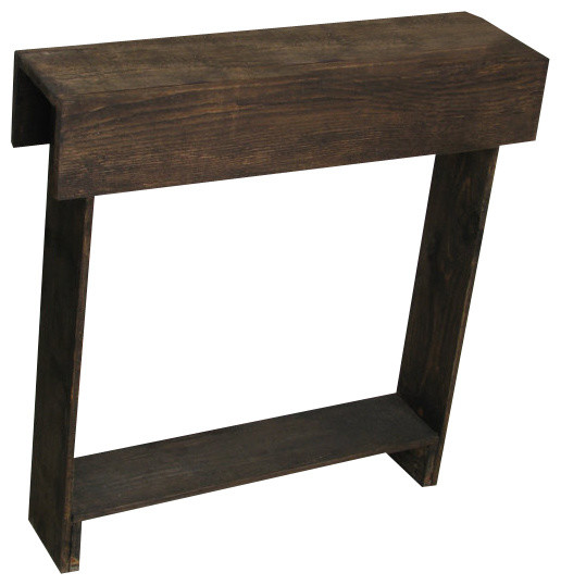 Brown Skinny Wall Table Rustic Side Tables And End By Exquisite Designs