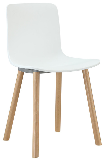 Sprung Dining Side Chair In White Modern Dining Chairs