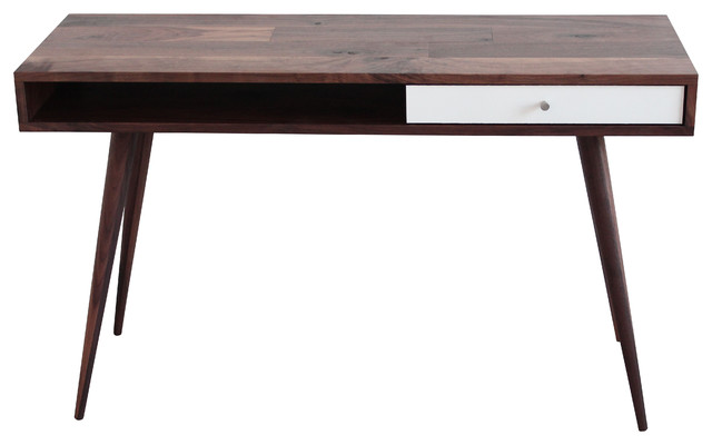 Mid Century Modern Laptop Desk, Walnut, Walnut Legs ...