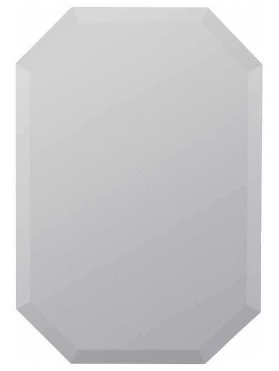 "Cooper Classics - Lyndale Glossy White Oval Mirror - Frameless Mirror; Beveled Mirror Frame Dimensions: 22""W X 32""H; Finish: Frameless; Material: Glass; Beveled: Yes; Shape: Unique; Included: Brackets, Ready to Hang"