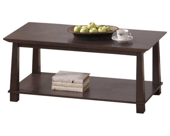 Baxton Studio - Baxton Studio Havana Brown Wood Modern Coffee Table - Simultaneously having a classic and contemporary feel, the Havana Coffee Table is a versatile design with just the right touch for a sophisticated, casual living space. This is a practical yet elegant dual-shelf coffee table, ideal for the center of a seating area in a living room. The contemporary coffee table is built with dark brown wenge veneered MDF and particle board with eco-friendly rubber wood. To clean, wipe with a dry cloth. Made in Malaysia; assembly is required. A matching Havana TV cabinet, bookshelves, and coffee table are also offered (each sold separately).
