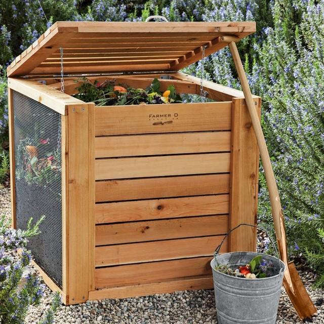 Farmer d cedar composter contemporary compost bins