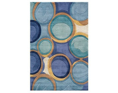 Momeni New wave NW133 Area Rug - Blue contemporary-rugs
