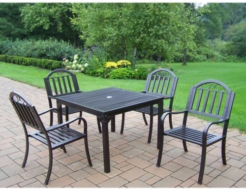 Oakland Living Rochester Patio Dining Set - Seats 4 - traditional