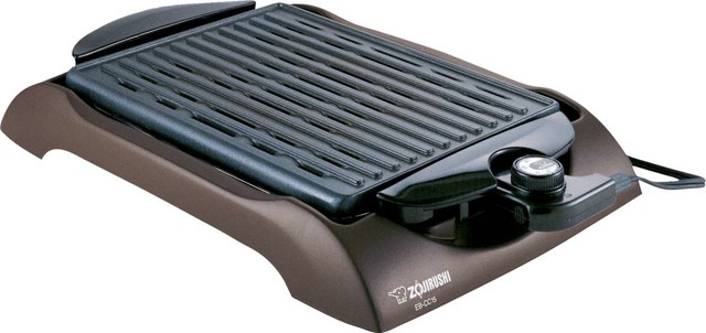 Small Electric Griller ~ Zojirushi eb cc indoor electric grill contemporary