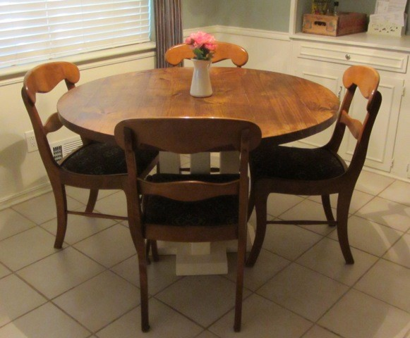 """36"""" Round Farmhouse Table Farmhouse Dining Tables other metro by"""