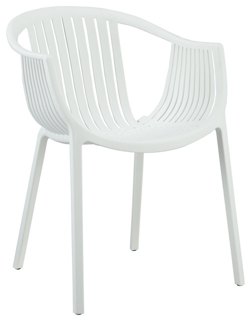 Hammock White Plastic Stackable Outdoor Modern Dining Chair Modern Outdoo