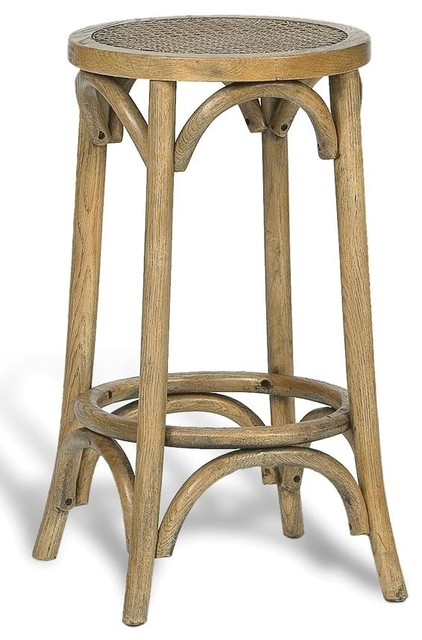 Stool Woven Cane American Oak Rattan Traditional Bar
