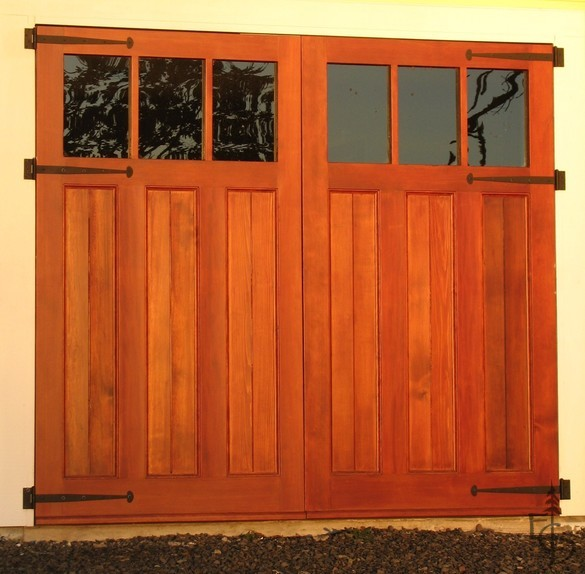 Evergreens Olympic 3 lite carriage door traditional garage doors