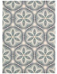 Nourison Home and Garden Aruba Seafoam Indoor/Outdoor Area Rug contemporary-outdoor-rugs