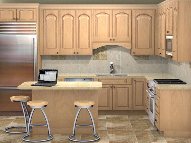 Kitchen 3d rendering traditional rendering Kitchen design rendering software