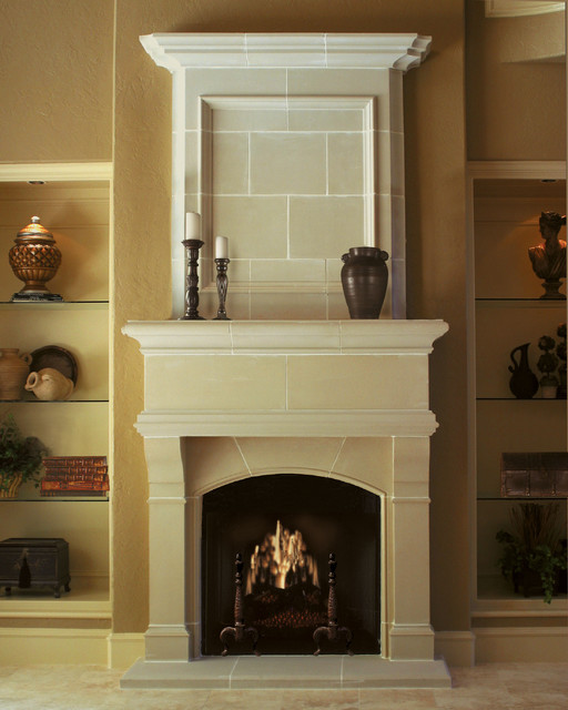 wilshire cast stone fireplace mantel traditional