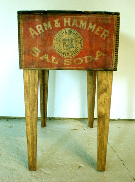 Shipping Crate Side Table - Arm & Hammer by Modern Arks eclectic-side-tables-and-end-tables