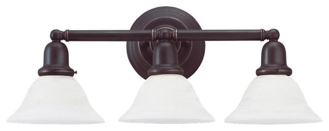 Sea Gull Lighting 49066BLE-782 Sussex Heirloom Bronze 3 Light Vanity transitional-bathroom-vanity-lighting