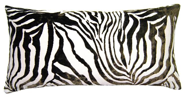 Decorative Zebra Pillows : Sheldon Pillow, Zebra Pillow - Contemporary - Decorative Pillows - by Square Feathers, Rhome ...