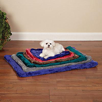 Plush Pet Crate Mat-Small contemporary-bath-mats