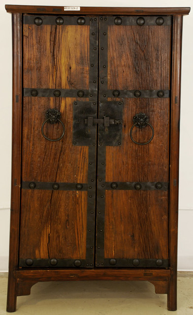 Antique asian cabinet with new doors made from old wood - Cabinet made from old doors ...