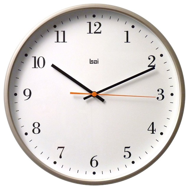 Bai Jumbo Wall Clock Bodoni Titanium Contemporary Wall Clocks By Amazon