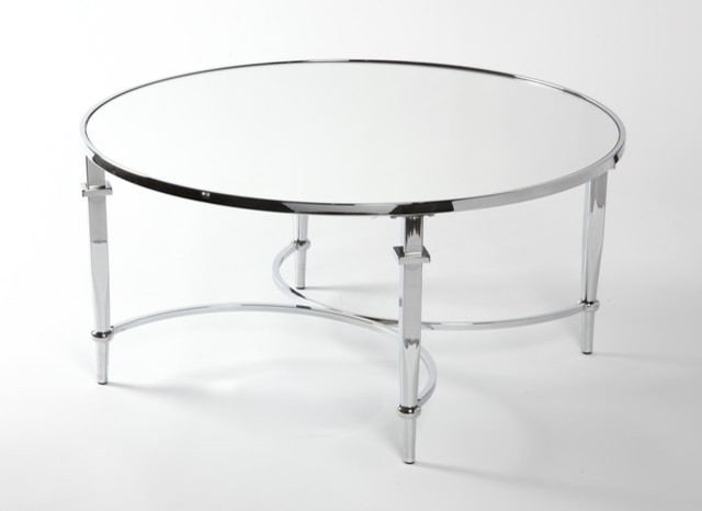 Timore Modern Mirrored Chrome Coffee Tabke Contemporary Coffee Tables Toronto By
