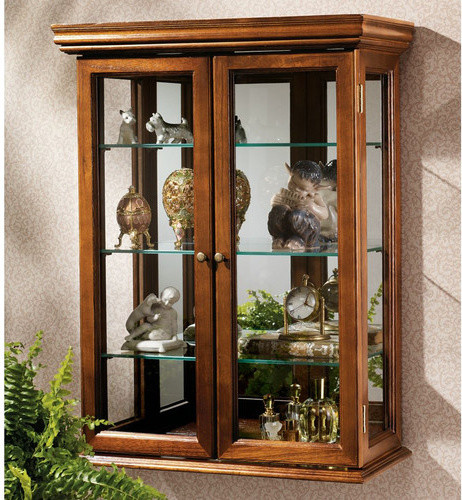 Wall Curio Cabinet - Modern - China Cabinets And Hutches - by Wayfair