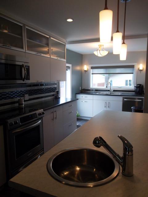 White & Black Kitchen contemporary-kitchen