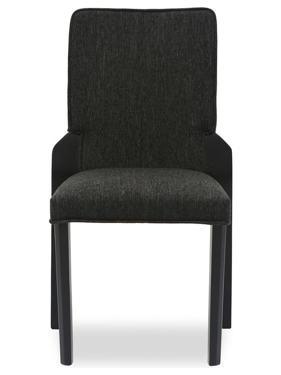 Bryght - Hina Liquorice Fabric Upholstered Dining Chair - The Hina stackable dining chair with its comfortably padded seat and back offers you the luxury of space saving with style. The Hina dining chair's durable liquorice upholstery makes it ideal for longer sittings or every day use.