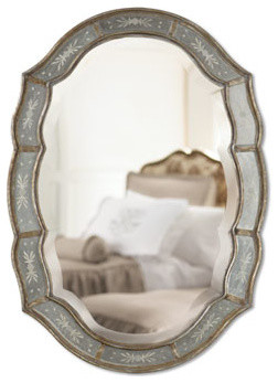 Fifi Etched Mirror traditional-mirrors