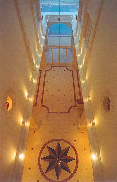 Atrium floor. eclectic-hall