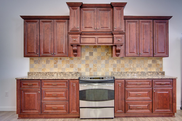 Sonoma Merlot Rta In Stock Kitchen Cabinets Traditional Kitchen Cabinetry New York By