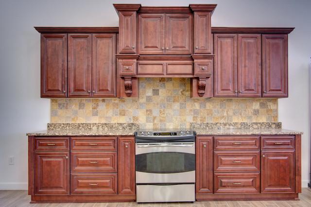 Sonoma Merlot - RTA in Stock Kitchen Cabinets ...