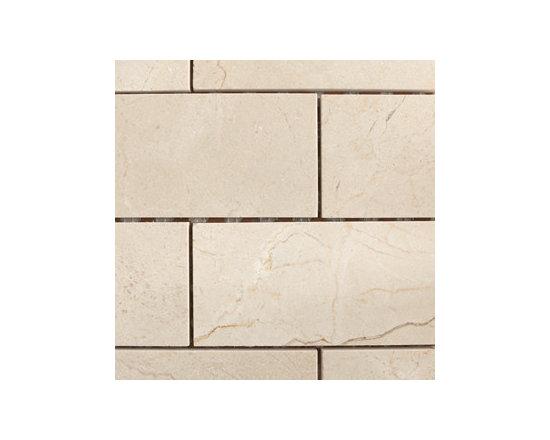 "3""x6"" Crema Marfil Brick Pattern Natural Stone Mosaic -"