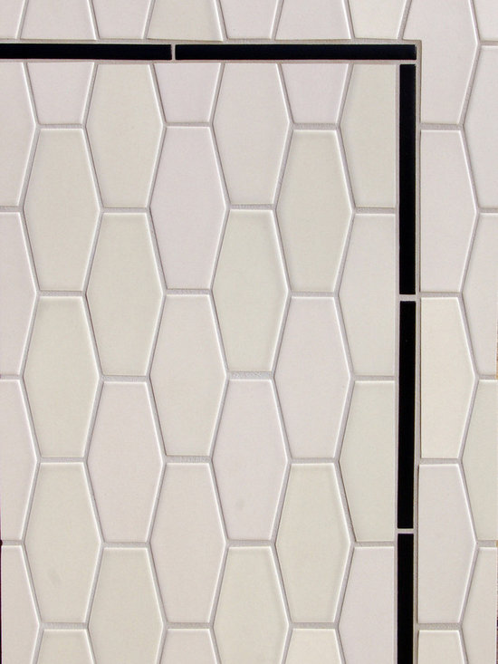 New Releases - The new small elongated hex gives a new twist to the traditional hex seen here in one of our parchment glazes, P350