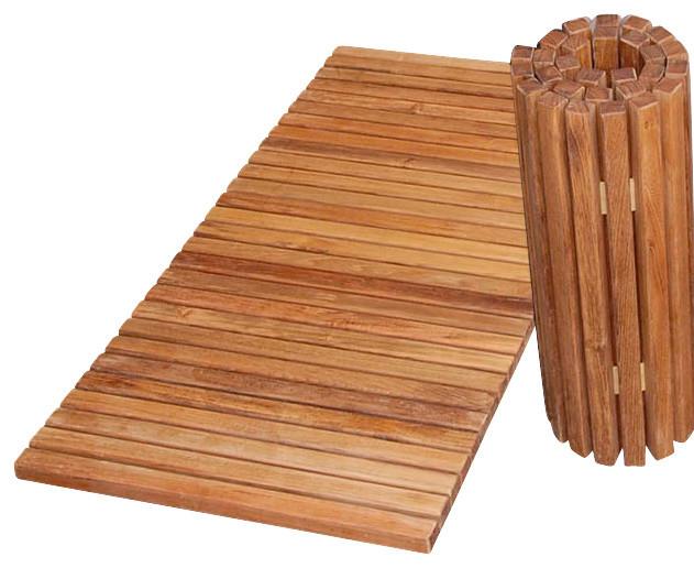 teak folding shower mat tropical bath mats by
