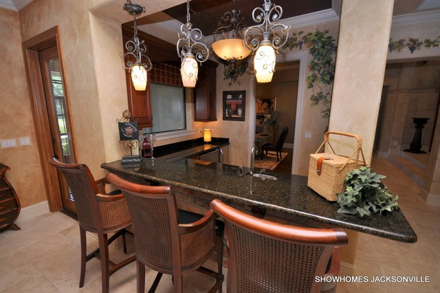 Showhomes Jacksonville Projects mediterranean-home-bar