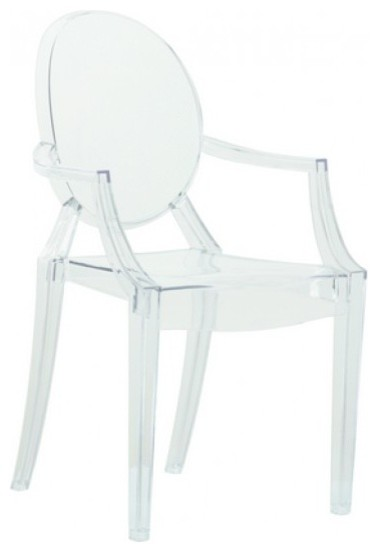 clear acrylic ghost arm chair modern dining chairs by ezmod
