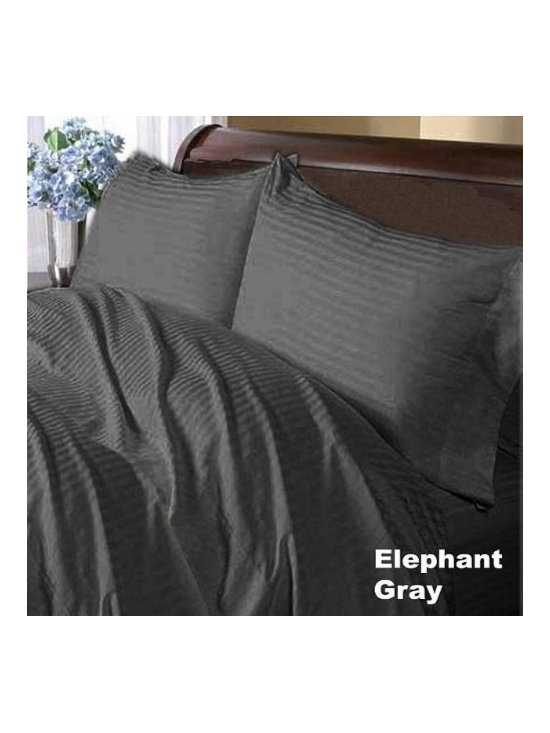 600TC Stripe Elephant Grey Flat Sheet & 2 Pillowcases - Redefine your everyday elegance with these luxuriously super soft Flat Sheet . This is 100% Egyptian Cotton Superior quality Flat Sheet that are truly worthy of a classy and elegant look.