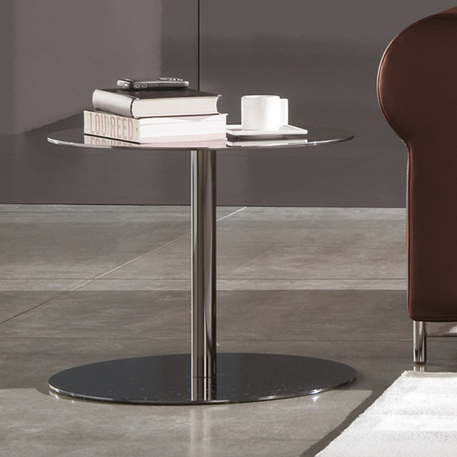 Houzz Black Coffee Table: Minotti Bellagio Black-Nickel Coffee Table