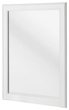 Gazette 32 in. L x 24 in. W Framed Wall Bathroom Mirror in White contemporary-bathroom-mirrors