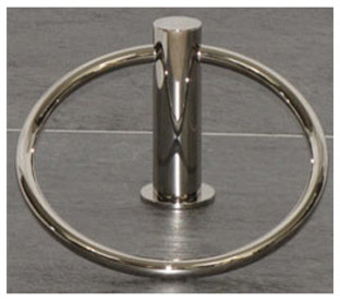 Hopewell Bath Ring - Polished Nickel modern-towel-bars-and-hooks