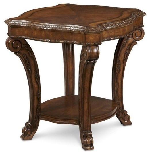 A r t furniture old world rectangular end table traditional side tables and end tables by Traditional coffee tables and end tables