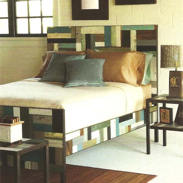 Patch Wood Bed eclectic-beds
