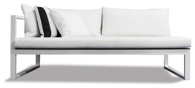Piano Two Seat One Arm Sofa, Right Arm modern-outdoor-sofas