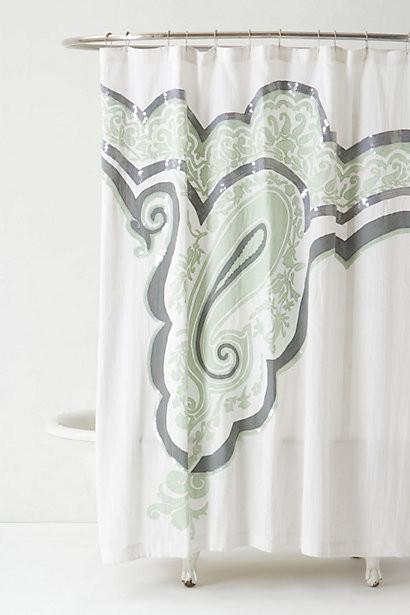 Anthro shower curtain