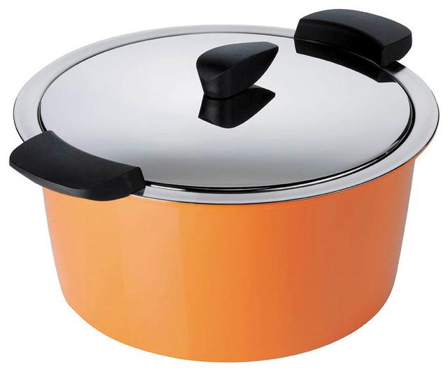 Kuhn Rikon Hotpan 2 qt. Casserole, Orange contemporary-dutch-ovens-and-casseroles